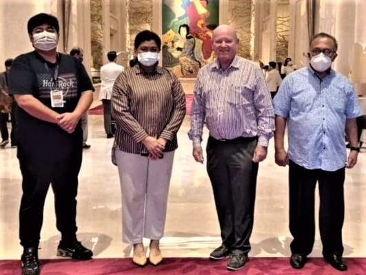 Seychelles former Tourism Minister St.Ange discusses tourism with Indonesia officials